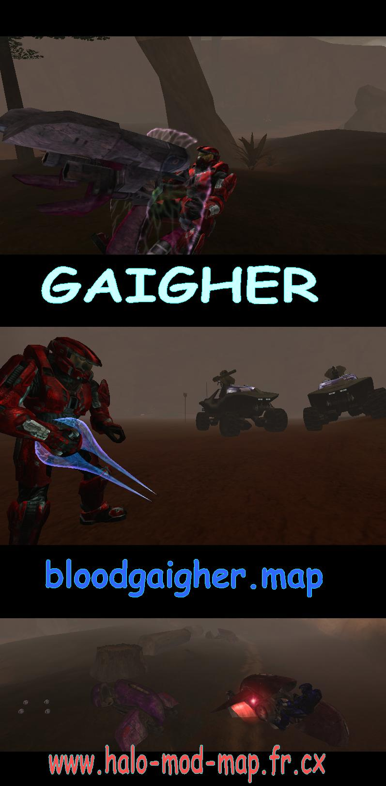 BloodGAIGHER maphaloce map halo ce maphalo halomap carte cartes création GAIGHER mod